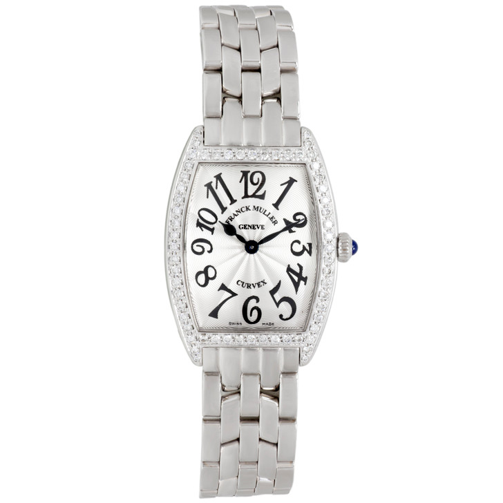 Franck Muller Stainless Steel Cintree Curvex Diamond Watch 1752 QZ DP ACB ACE