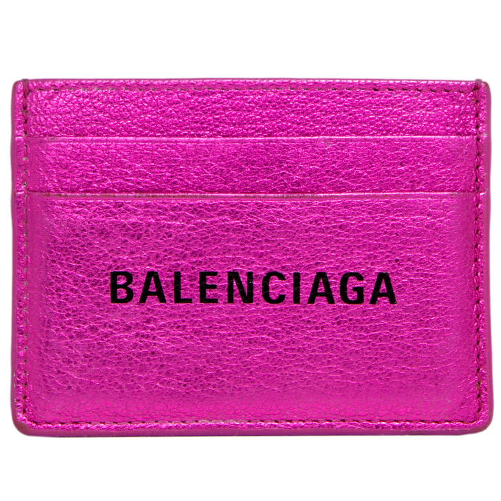 Balenciaga Metallic Pink Everyday Card Holder