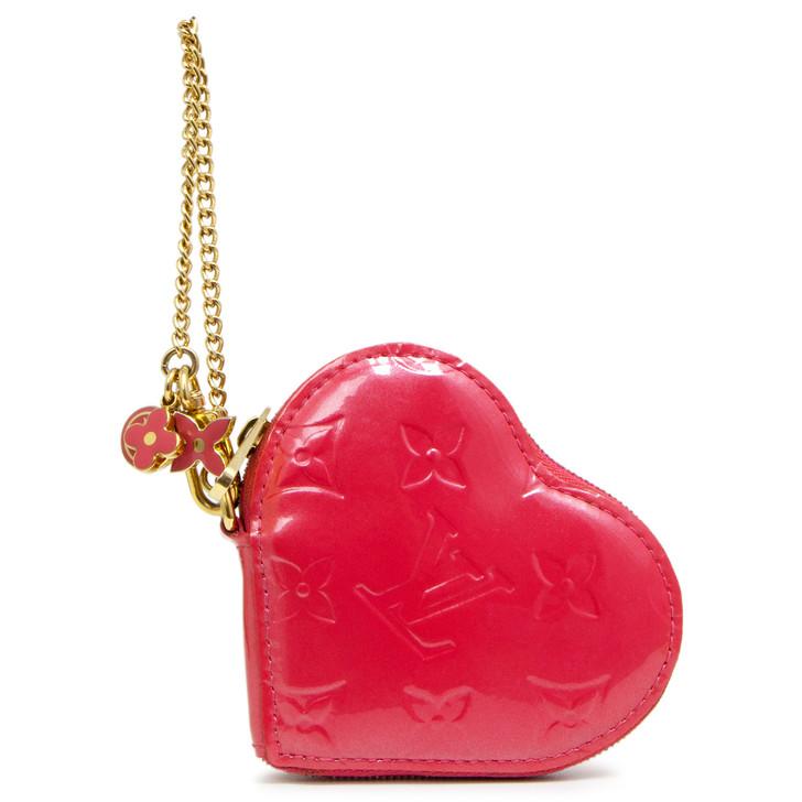 Louis Vuitton Pink Vernis Heart Coin  Purse
