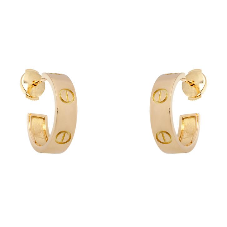 Cartier 18K Yellow Gold Vintage Love Earrings