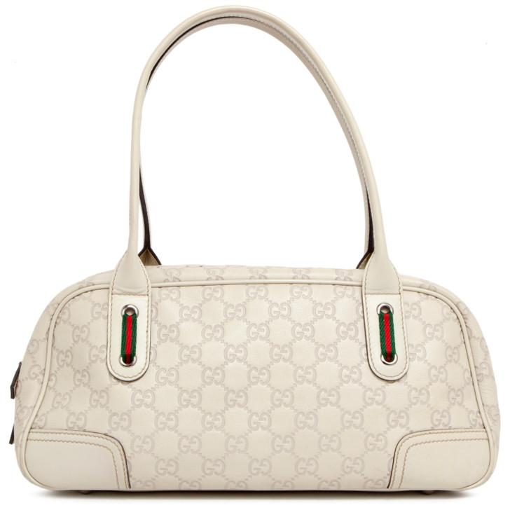 Gucci Ivory Guccissima Leather Princy Boston Bag