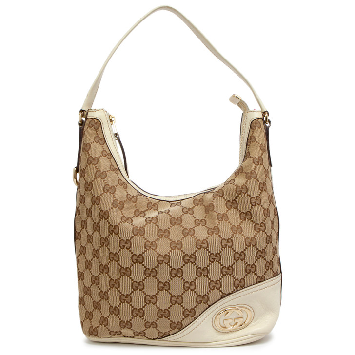 Gucci Monogram New Britt Hobo