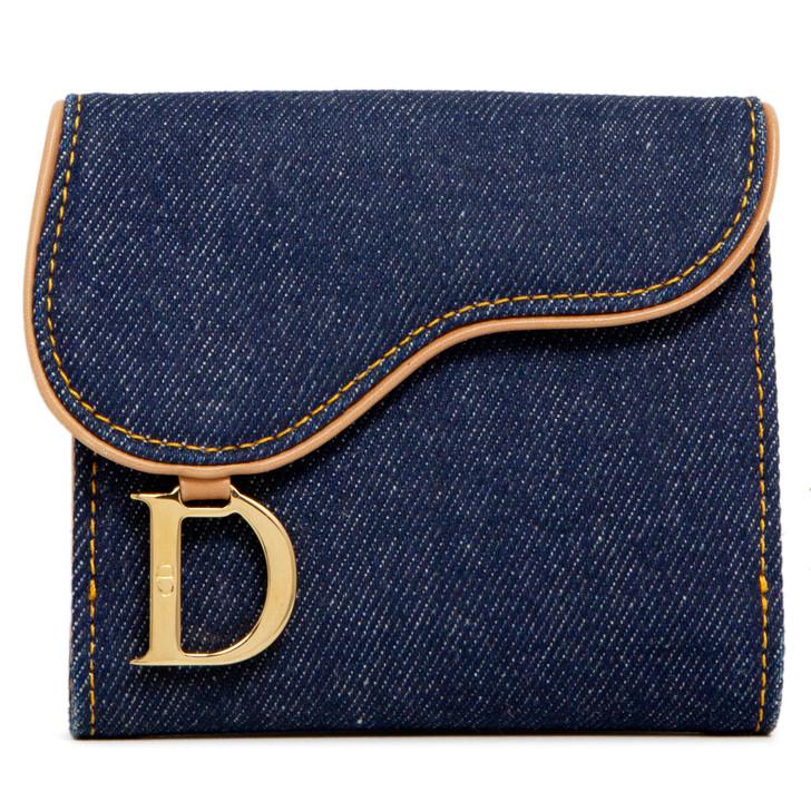 Christian  Dior Denim Saddle Wallet