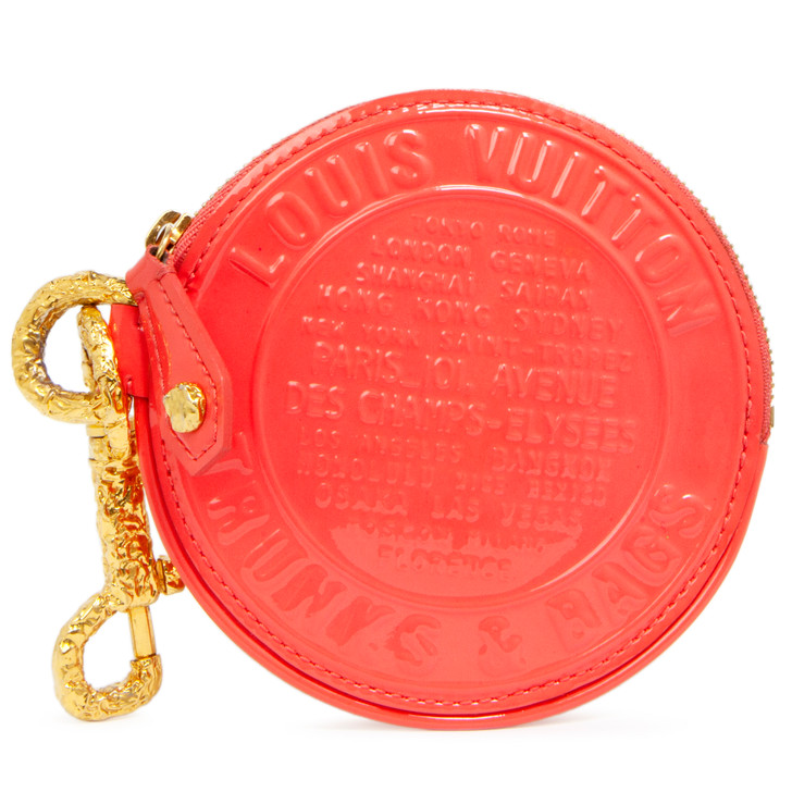 Louis Vuitton Coral Vernis Trunks and Bags Porte-Monnaie Round Coin Purse
