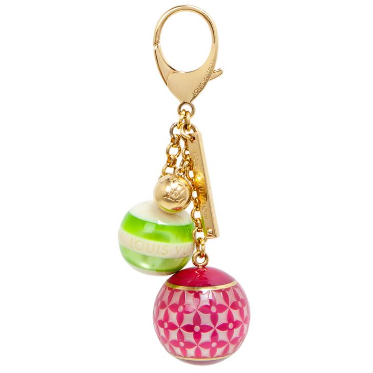 Louis Vuitton Pink/Green Mini Lin Croisette Bag Charm