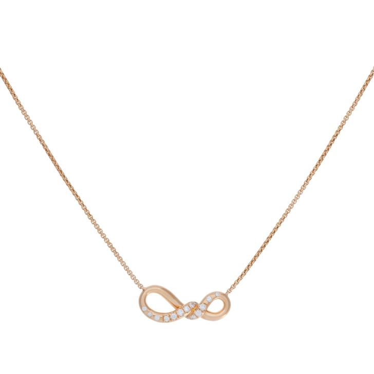 David Yurman 18K Rose Gold & Diamond Small Continuance Pendant