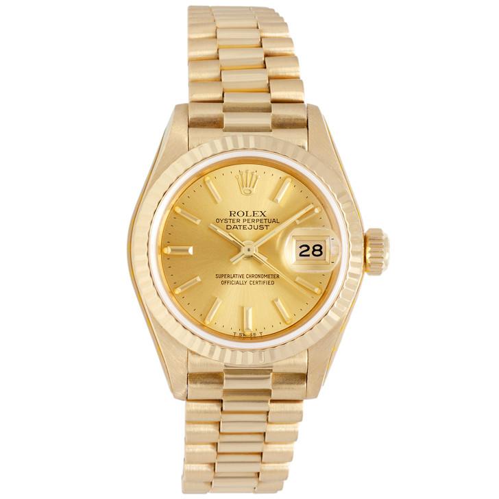 Rolex 18K Yellow Gold Ladies  Datejust  President 69178