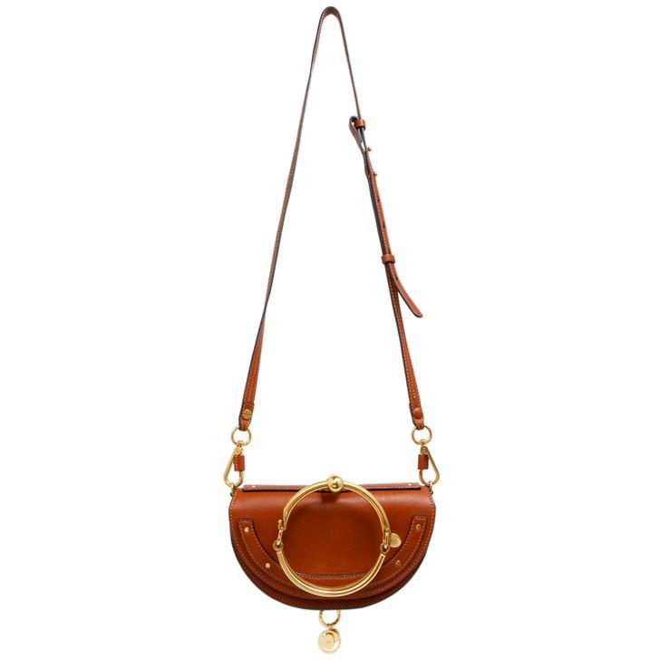 Chloe Caramel Calfskin Small Nile Bracelet Minaudiere Bag
