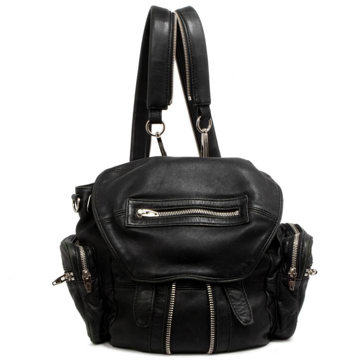 Alexander Wang Black Lambskin Marti Backpack