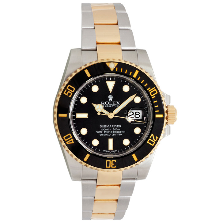Rolex 18K Yellow  Gold & Stainless Steel Submariner 116613LN