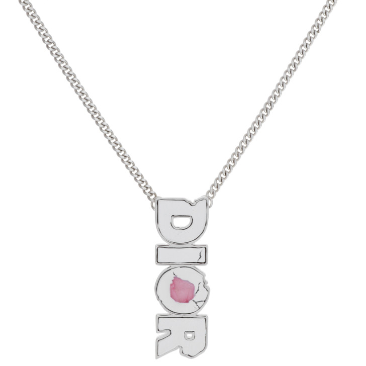 Dior Daniel Arsham 'DIOR' Matte Finish Pendant Necklace