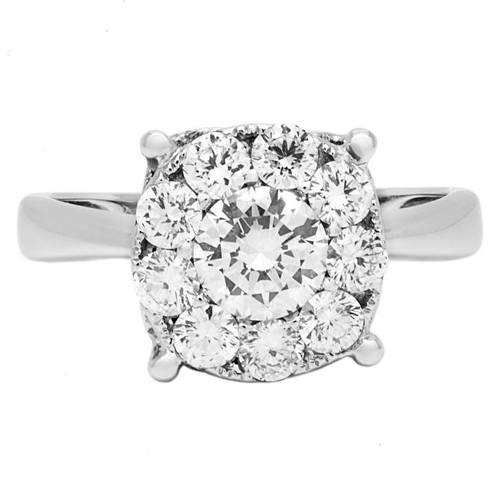 18K White Gold 0.85 Carat Diamond Ring