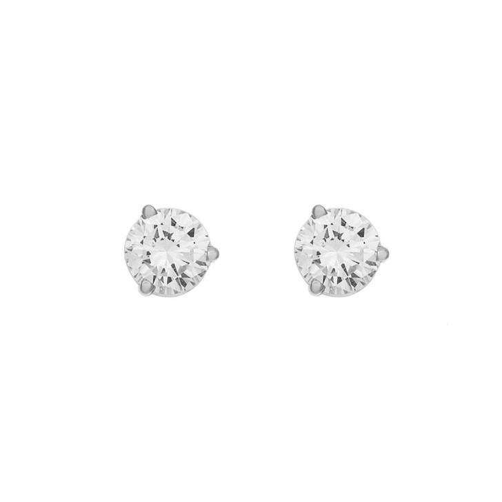 18K White Gold 0.90 Carat Diamond Studs