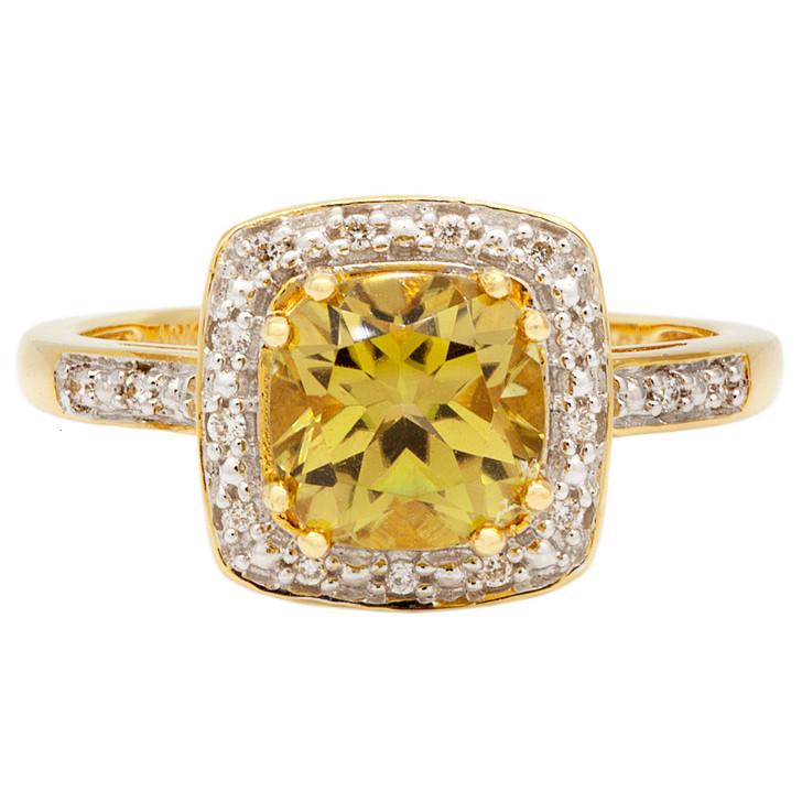 18K Yellow Gold Vesuvianite Ring