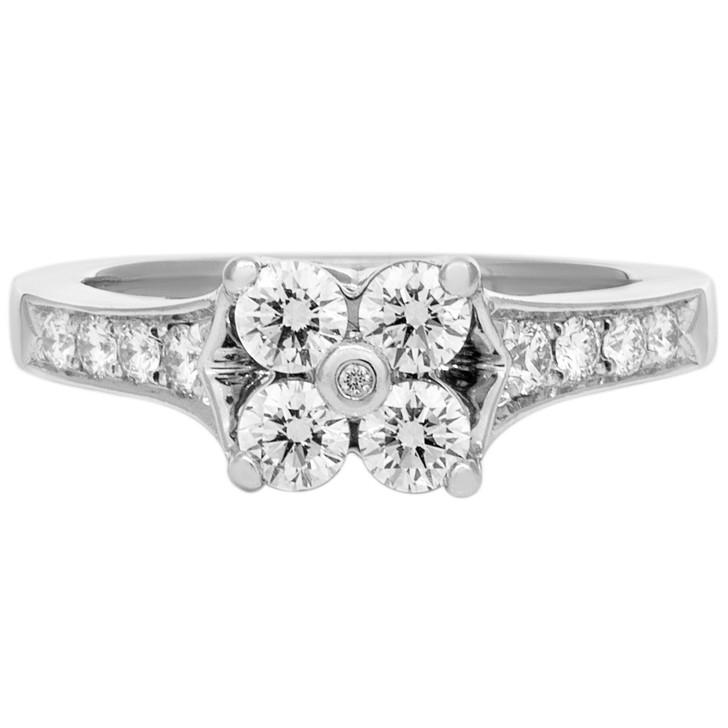 950 Platinum 0.60 Carat Diamond Ring