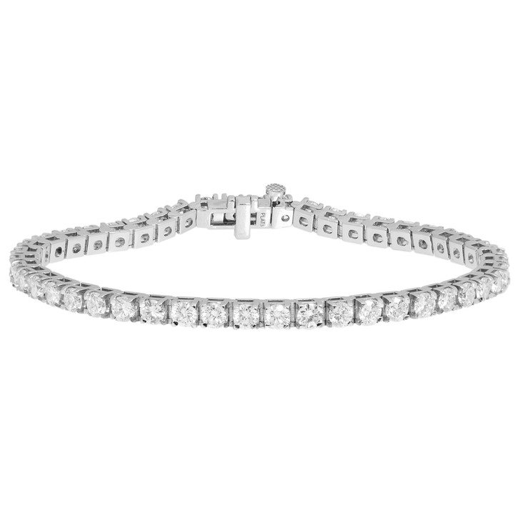 950 Platinum 6.81 Carat Diamond Tennis Bracelet