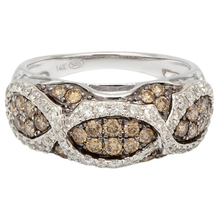 14K White Gold Fancy Brown Diamond Ring