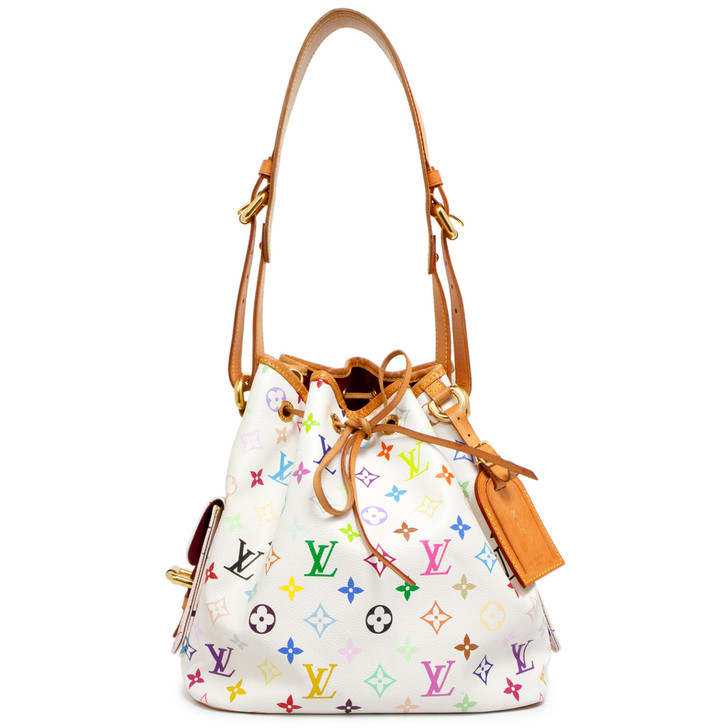 Louis Vuitton White Multicolor Petit Noe
