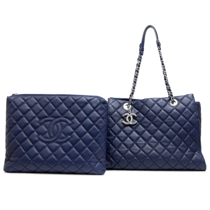 Chanel Blue Calfskin Chic and Soft Large  Shopping Tote