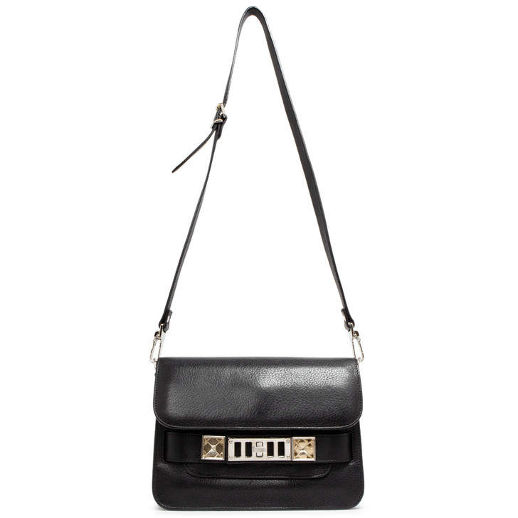 Proenza Schouler Black Calfskin Mini PS11 Classic Shoulder Bag