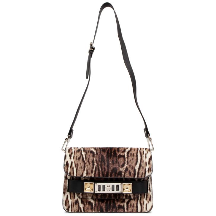 Proenza Schouler Leopard Print Pony Hair Mini PS11 Shoulder Bag