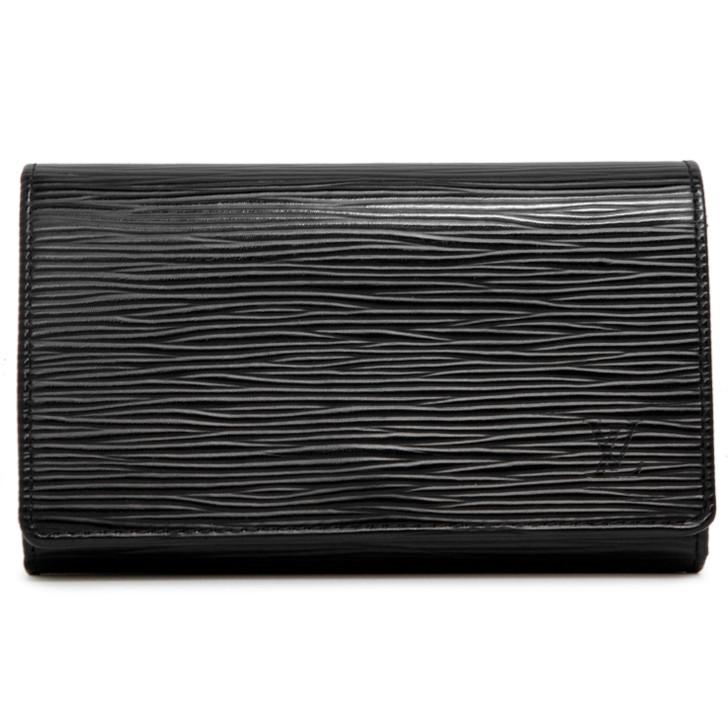 Louis Vuitton Black Epi Porte-Monnaie Billets Tresor Wallet