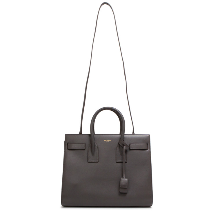 Saint Laurent Grey Calfskin Small Sac de Jour