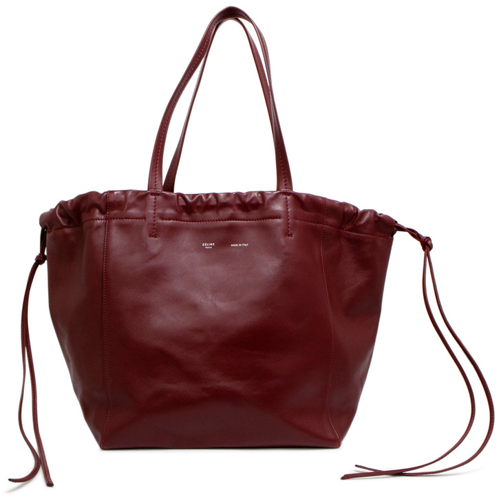Celine Burgundy Smooth Calfskin Small Coulisse