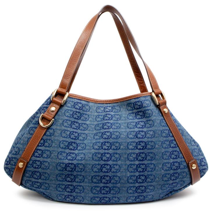 Gucci Denim Medium Abbey Shoulder Bag