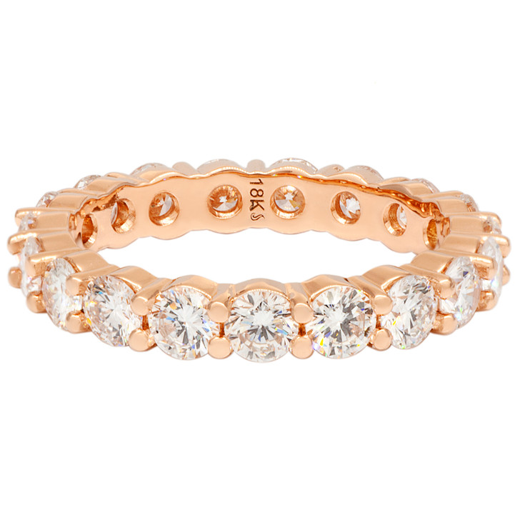 18K Rose Gold 2.05 Carat Diamond Eternity Band