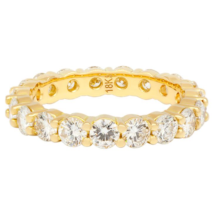 18K Yellow Gold 2.00 Carat Diamond Eternity Band