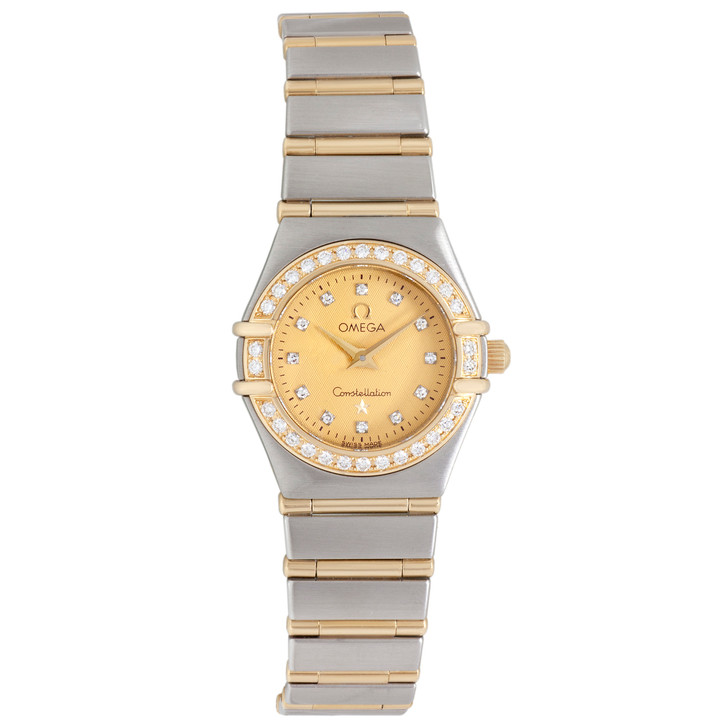 Omega Stainless Steel & 18K Yellow Gold Constellation 95 Quartz 1267.15.00