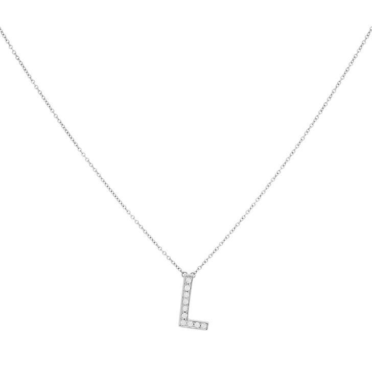 Tiffany & Co. Platinum & Diamond Letters Alphabet 'L' Pendant