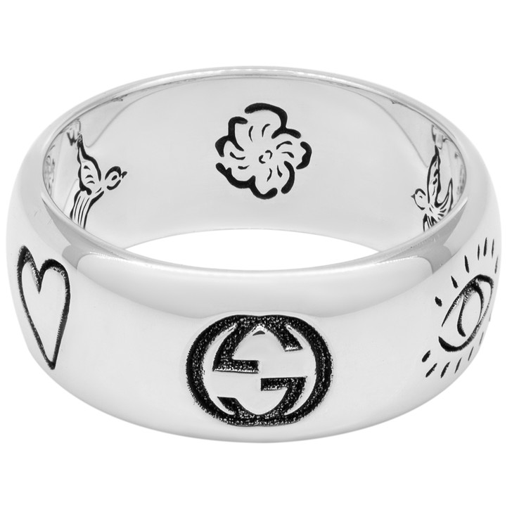Gucci Sterling Silver Blind for Love Ring
