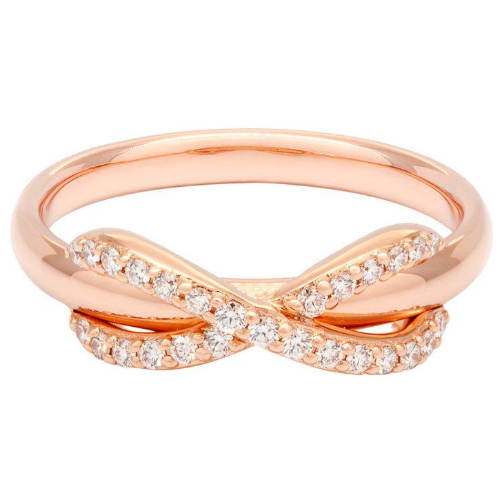 Tiffany & Co. 18k Rose Gold Diamond Infinity Ring