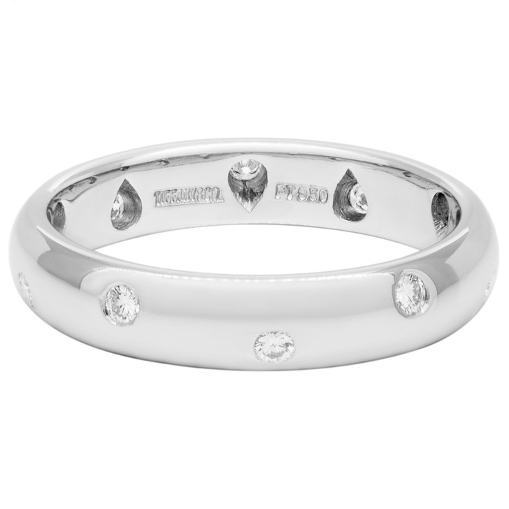 Tiffany & Co. Platinum & Diamond Etoile Band  Ring