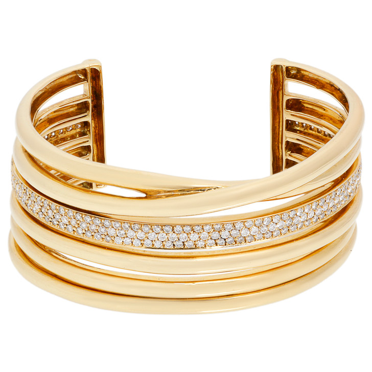 18K Yellow Gold 2.60 Carat Diamond Bracelet