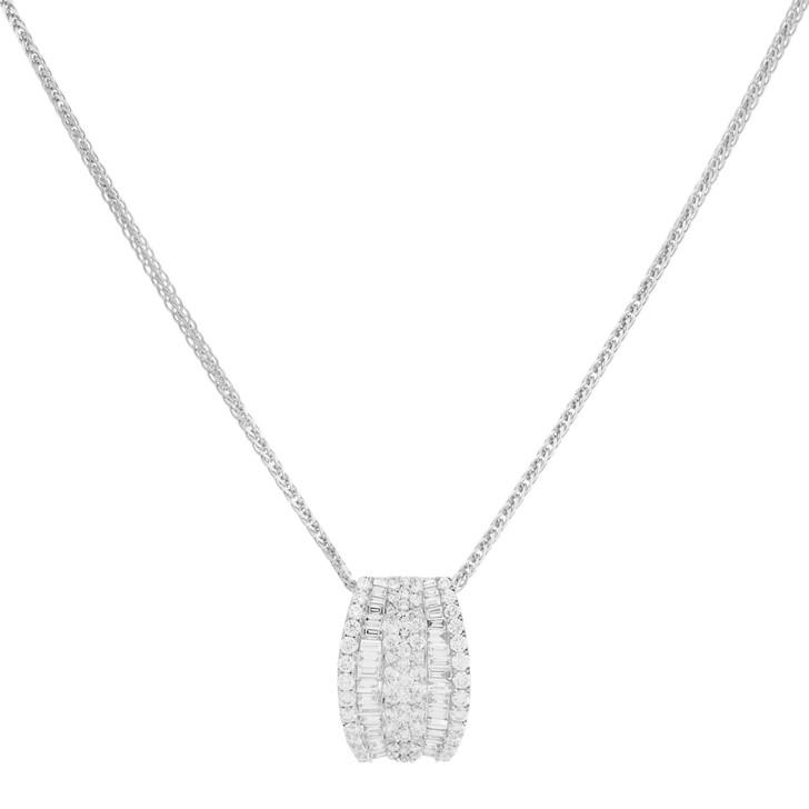 18K White Gold 2.56 Carat Diamond Pendant