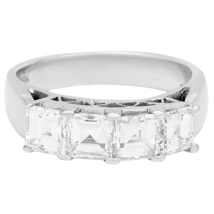 18K White Gold 1.82 Carat Diamond Ring
