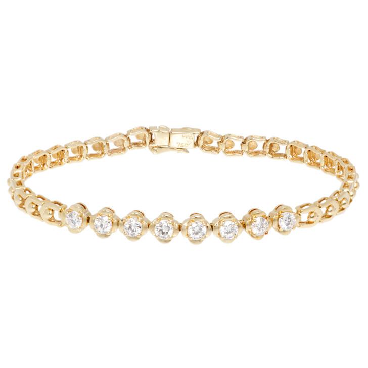 18K Yellow Gold 0.96 Carat Diamond Bracelet