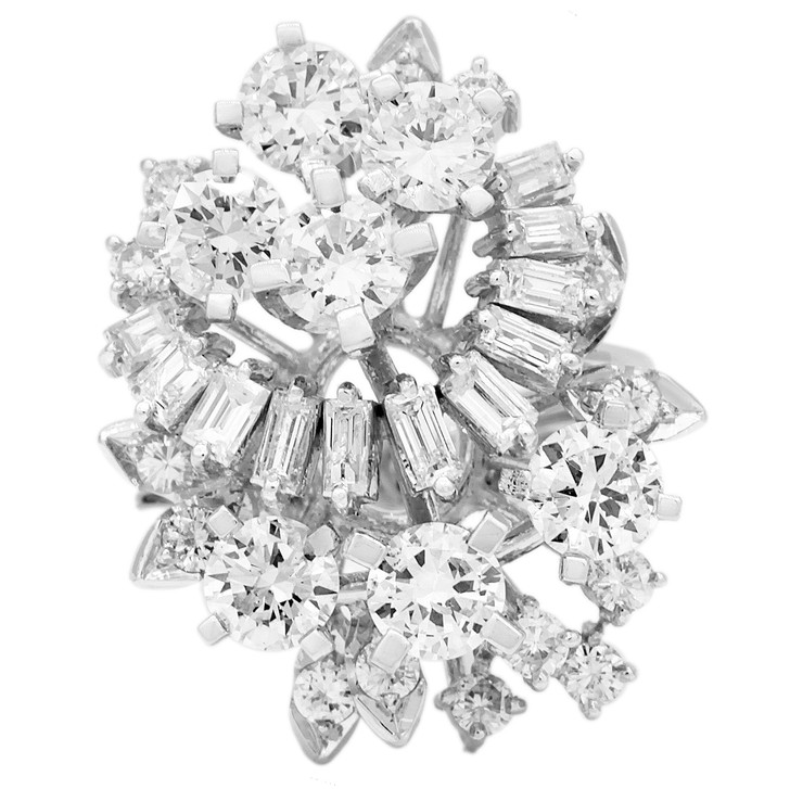 14K White Gold 3.16 Carat Diamond Ring