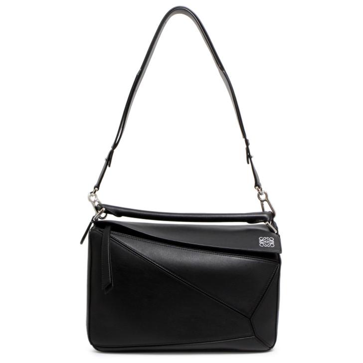 Loewe Black Calfskin Medium Puzzle Bag