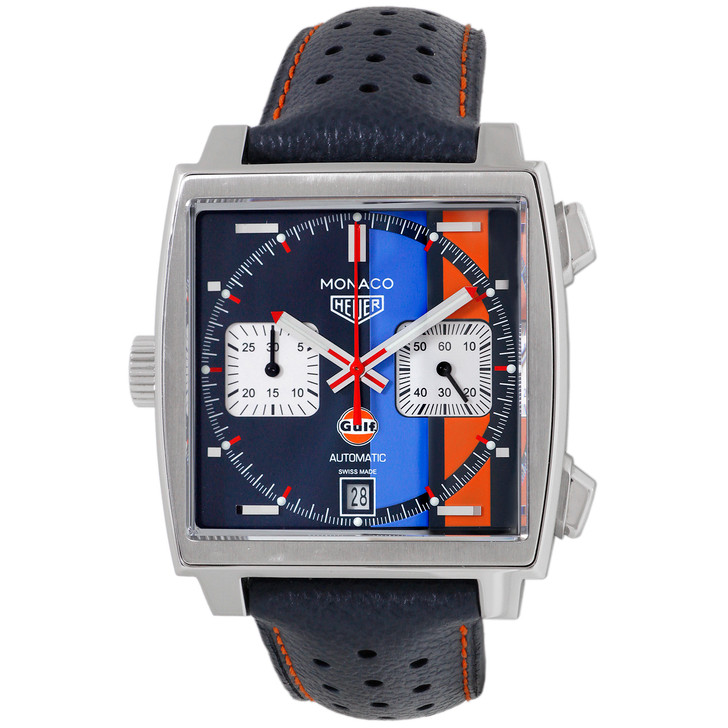 Tag Heuer Stainless Steel Monaco Gulf Automatic CAW211R.FC6401