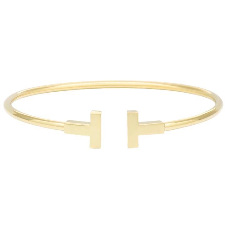 Tiffany & Co. 18K Yellow Gold T Wire Bracelet