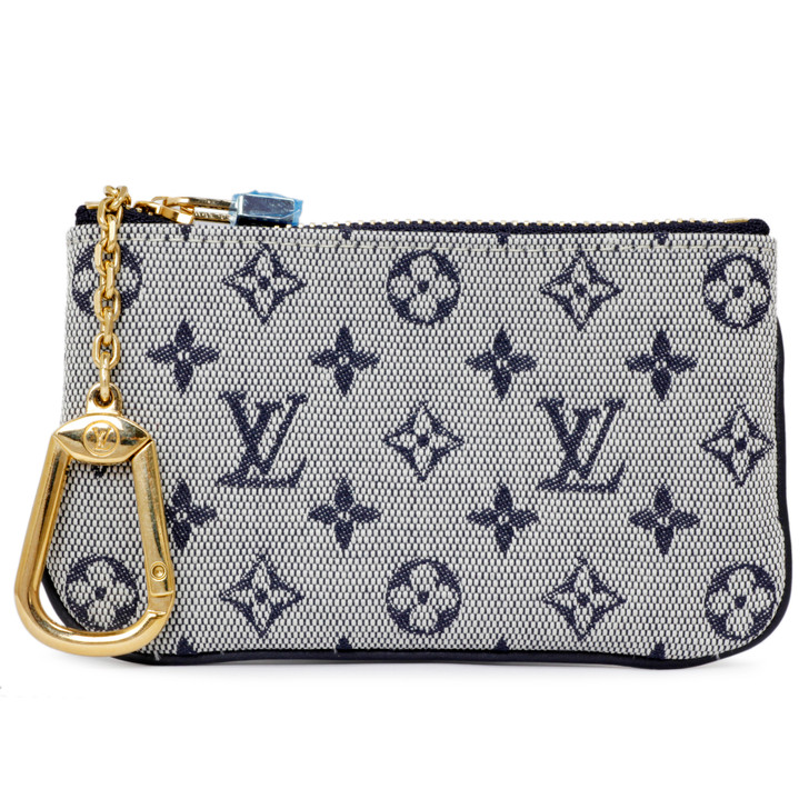 Louis Vuitton Bleu Mini Lin Key Pouch