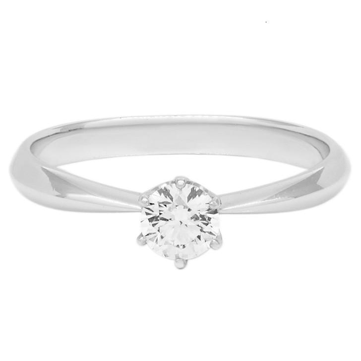 Platinum 0.23 Carat Diamond Solitaire Ring