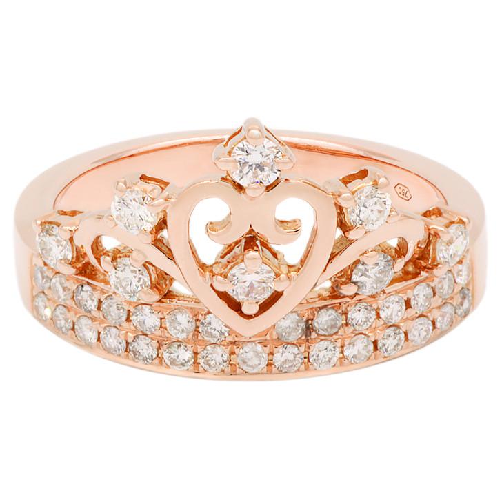 18K Rose Gold 0.54 Carat Diamond Ring