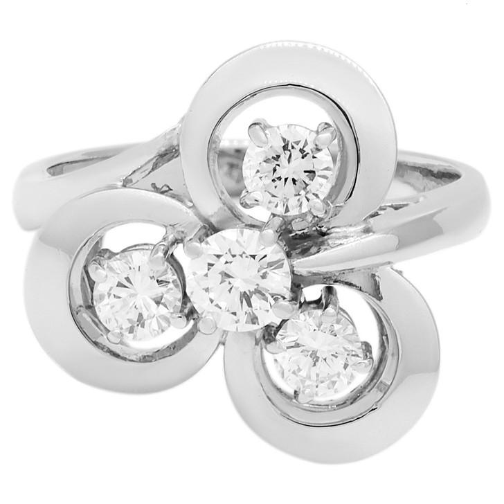 Platinum 0.71 Carat Diamond Ring