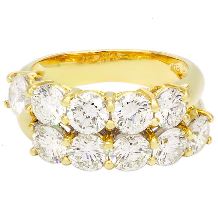 18K Yellow Gold 2.50 Carat Diamond Ring