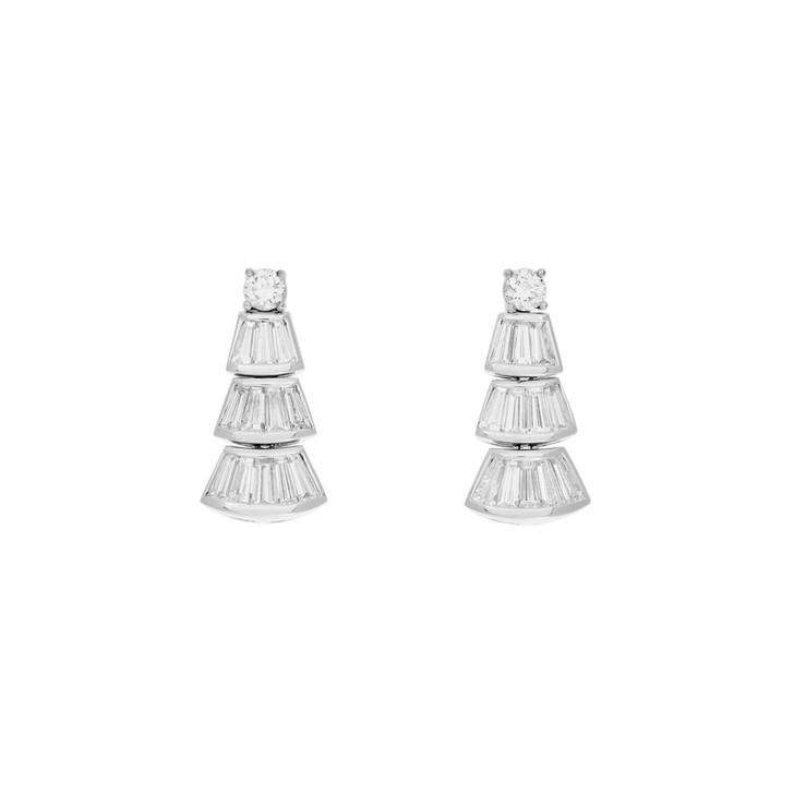 18K White Gold 2.02 Carat Diamond Earrings